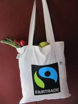 Fairtrade Baumwolltasche lange Henkel