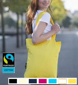 Bio Baumwolltasche Fairtrade lange Henkel 210 g/m2 7 Farben