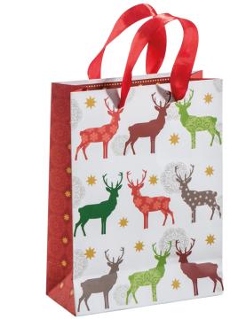 Einkaufstasche mit Weihnachtsmotive