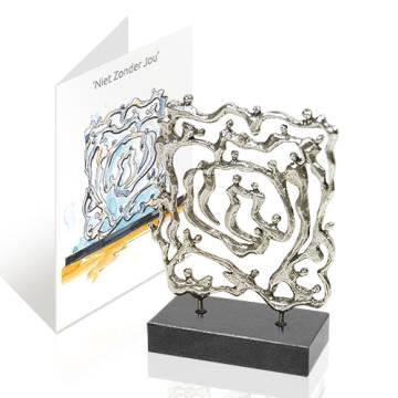 Geschenk  Skulptur `Gemeinsam Stark`