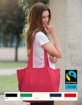 Bio Einkaufstasche Fairtrade Seitenfalte 51x32x14  120g/m2