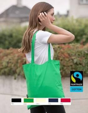 Bio Baumwolltasche Fairtrade 5 Farben 120 g/m2