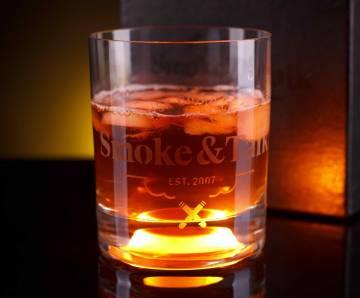 Whiskey Glas mit LED Licht