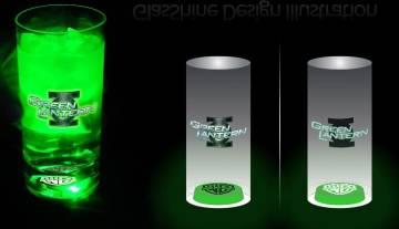 Gläser mit Licht