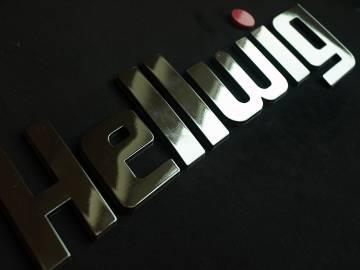 Chrom 3D Etikett für Produkte