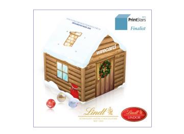 Werbe Adventskalender Weihnachtshaus