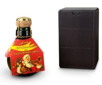Kleinste Sektflasche Weihnachtsgruß