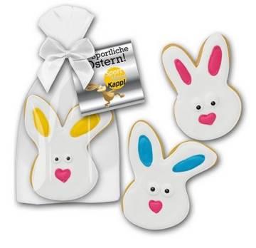 Oster Bunnys mit Zuckerguss und Karte