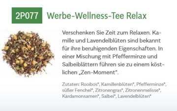 Werbetee Relax