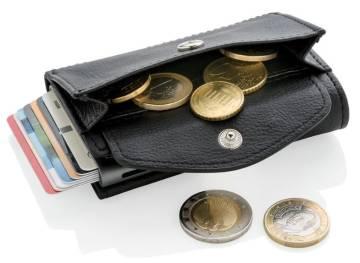 C-Secur RFID Kartenhalter Portemonnaie mit Münzfach schwarz