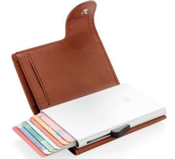 C-Secure RFID Kartenhalter Portemonnaie Geldbörse braun