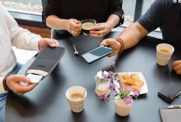 Telefon Hülle Signalblocker RFID Schutz schwarz