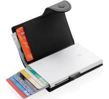 C-Secure RFID Kartenhalter Geldbörse schwarz