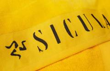 Handtücher mit Logo Einwebung in Bordüre
