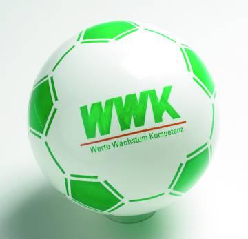 Werbeall mit Fussballfeldern