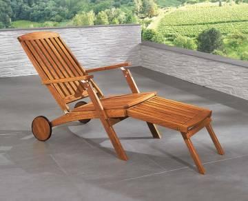 Deckchair Liege für Hotel Massivholz