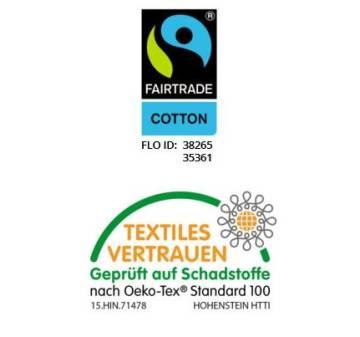 Fairtrade Baumwolltasche 34x42 lange Henkel rot