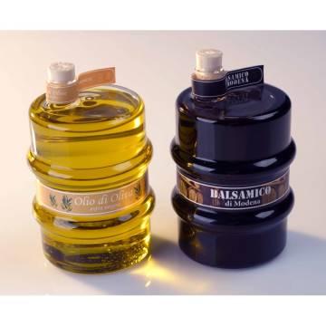Firmenpräsent Essig und Öl Fässchen Set