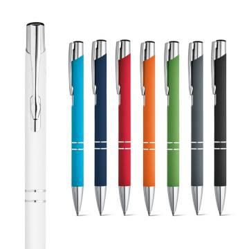 Werbeartikel Kugelschreiber Beta Aluminium gummiert