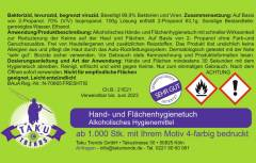 Desinfektionstücher 2 in 1 Digitaldruck