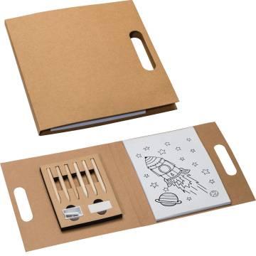 Ausmalbuch Mappe im recycelten Einband