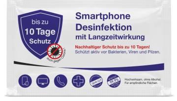 Handy Desinfektiontücher mit eigenem Logo