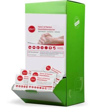 Desinfektionstücher 200er Spenderbox
