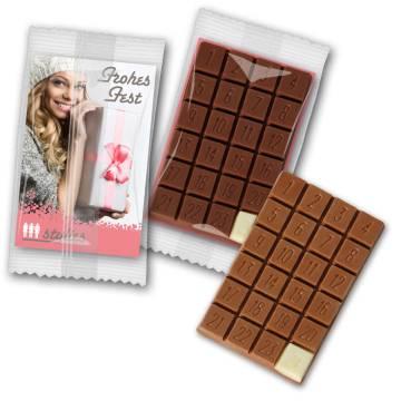Kleinster Adventskalender Schokolade