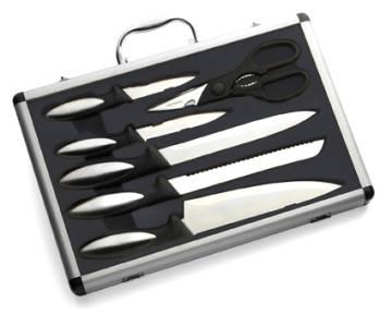 Messerset, Metall/Kunststoff