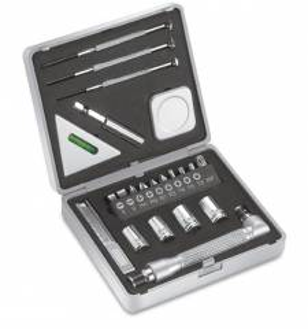 22-Teile Miniwerkzeugset mit drei Schraubenziehern