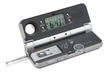 Clock radio with light REFLECTS CRETE