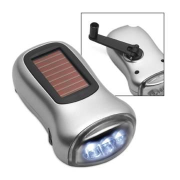 LED Solartaschenlampe mit Dynamoantrieb
