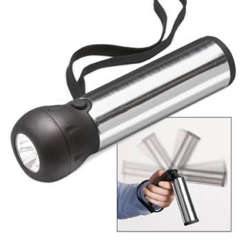 LED Taschenlampe mit Dynamoantrieb