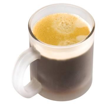 Kaffeetasse weiß gefrostet