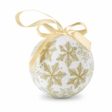 Weihnachtsbaumkugel golden FLAKIES