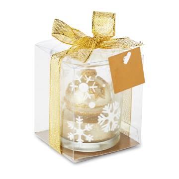 Teelichthalter golden GLITTERIE