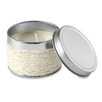 Kerze mit Vanilleduft weiß Delicious