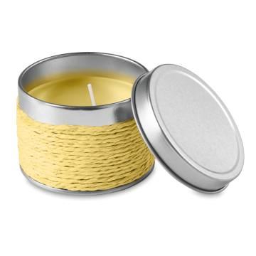 Kerze mit Zitronenduft gelb Delicious