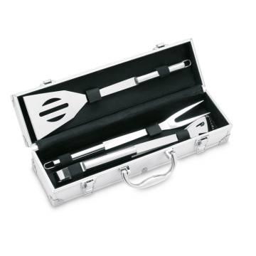 BBQ Koffer silber Asador