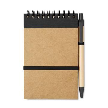 DIN A6 Notizbuch schwarz Sonora
