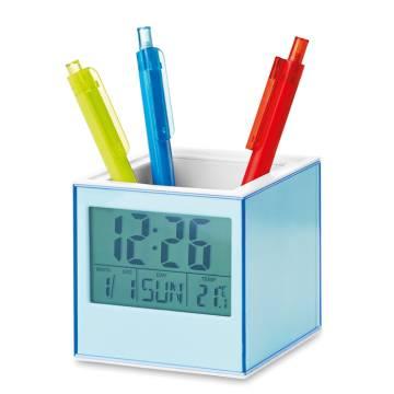 Stifteköcher mit Bilderrahmen transparent blau Pictorama