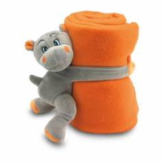 Fleece-Decke Nilpferd orange Hypopet