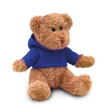 Teddybär mit Hoody blau JOHNNY