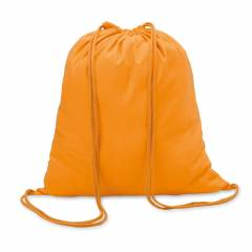 Beutel mit Kordelzug orange Colored