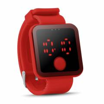 LED Armbanduhr rot Redtime