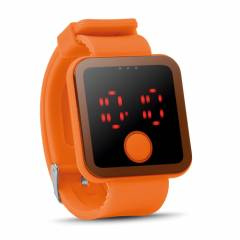 LED Armbanduhr orange Redtime