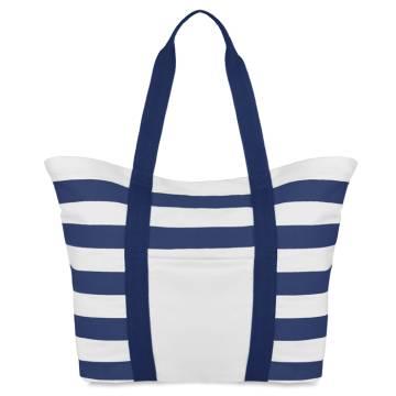 Gestreifte Strandtasche blau Blinky Stripes