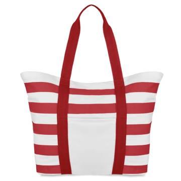Gestreifte Strandtasche rot Blinky Stripes