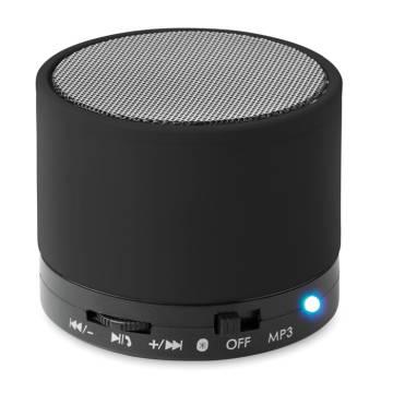 Bluetooth Lautsprecher, rund schwarz Round Bass