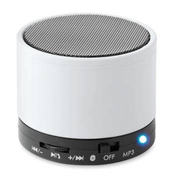 Bluetooth Lautsprecher, rund weiß Round Bass